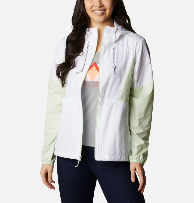 Side Hill™ Windbreaker | 103 | XS Women's Side Hill™ Windbreaker - Plus Size, White, Light Lime, a6