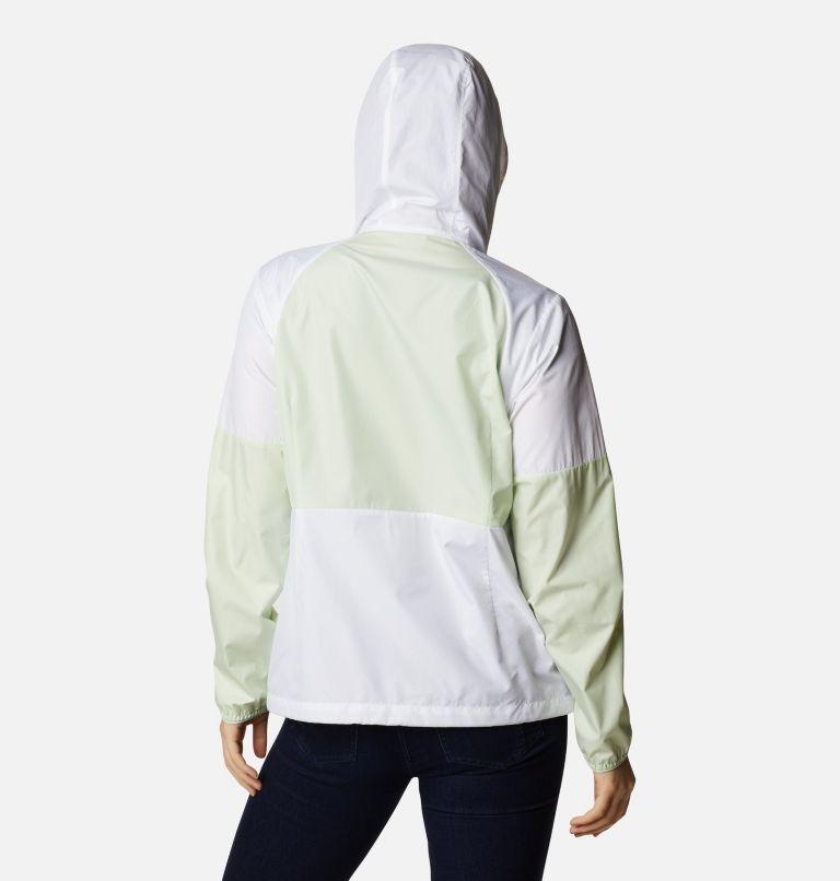 Side Hill™ Windbreaker | 103 | XS Women's Side Hill™ Windbreaker - Plus Size, White, Light Lime, back