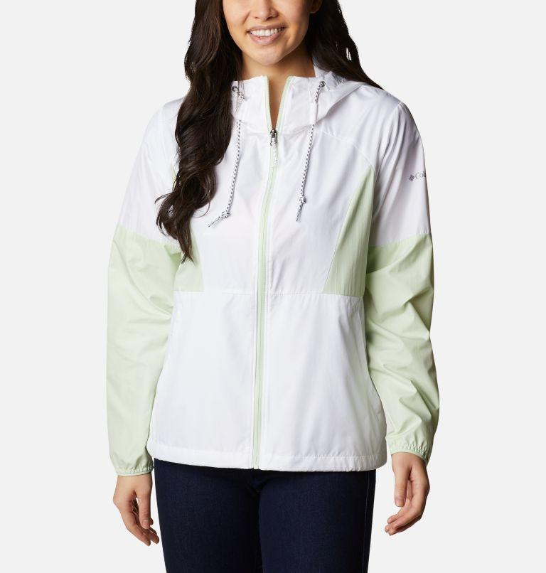 Side Hill™ Windbreaker | 103 | XS Women's Side Hill™ Windbreaker - Plus Size, White, Light Lime, front