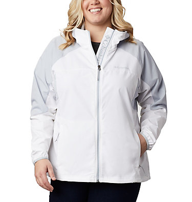 Women's Sweet Panther™ Jacket – Plus Size Sweet Panther™ Jacket | 010 | 1X, White, Cirrus Grey, front