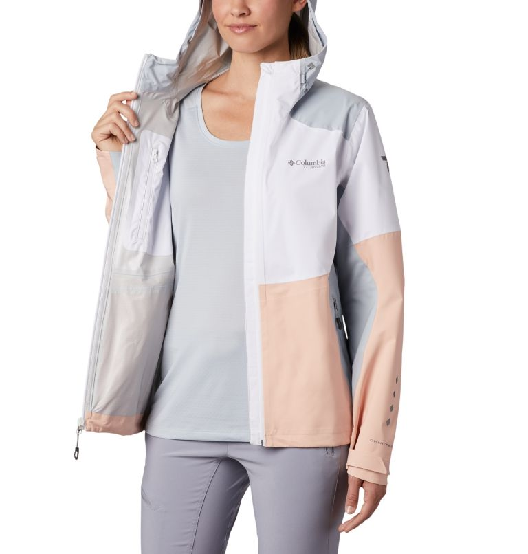 Titan Pass™ 2.5L Shell | 101 | XL Shell a 2,5 strati Titan Pass™ da donna, White, Peach Cloud, Cirrus Grey, a3