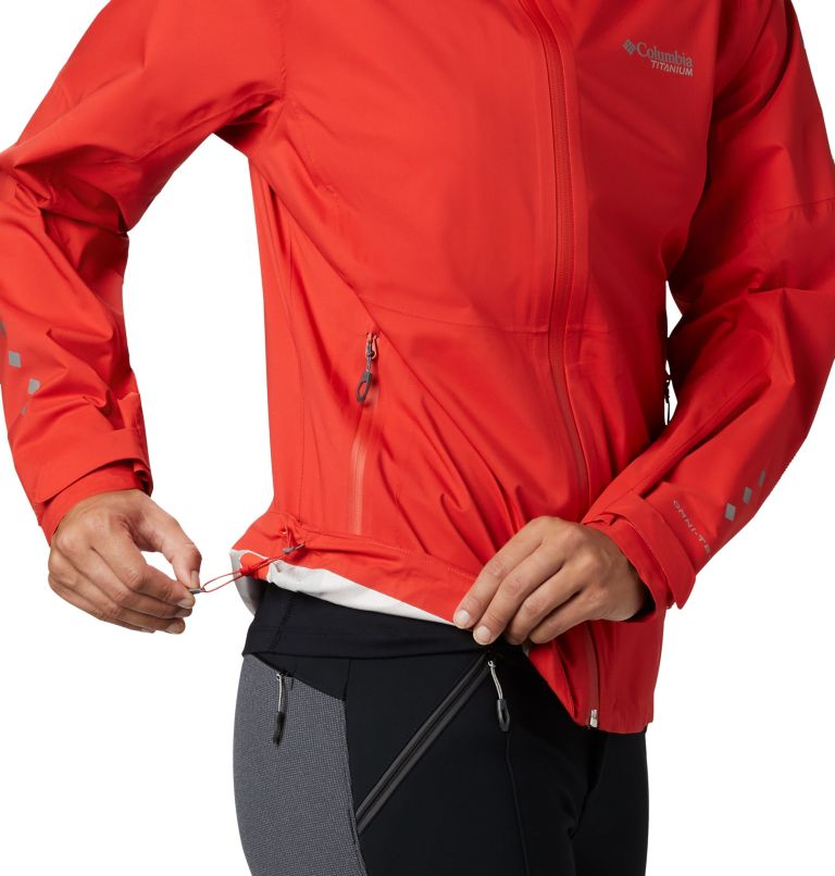 Titan Pass™ 2.5L Shell | 843 | XL Shell a 2,5 strati Titan Pass™ da donna, Bold Orange, a2