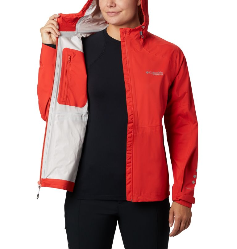 Titan Pass™ 2.5L Shell | 843 | XL Chubasquero Titan Pass™ 2.5L para mujer, Bold Orange, a3