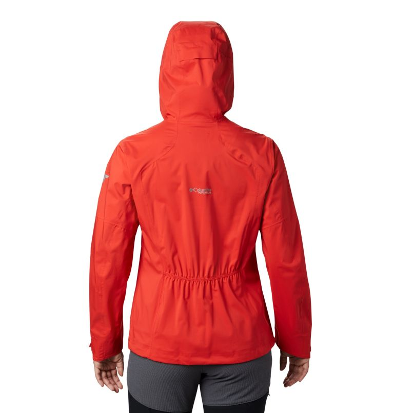 Titan Pass™ 2.5L Shell | 843 | XL Chubasquero Titan Pass™ 2.5L para mujer, Bold Orange, back