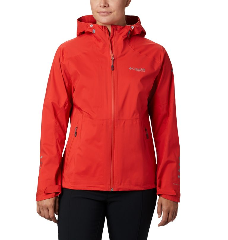 Titan Pass™ 2.5L Shell | 843 | XL Shell a 2,5 strati Titan Pass™ da donna, Bold Orange, front