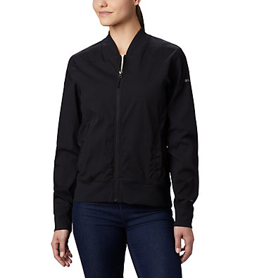 Women's Bachy Butte™ Long Bomber Jacket Bachy Butte™ Long Bomber | 010 | L, Black, front