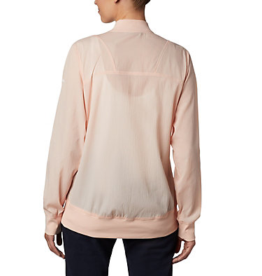 Women's Bachy Butte™ Long Bomber Jacket Bachy Butte™ Long Bomber | 010 | L, Peach Cloud, back