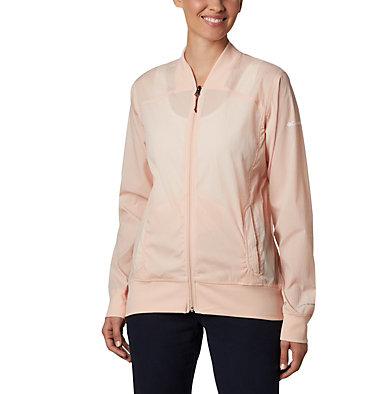 Women's Bachy Butte™ Long Bomber Jacket Bachy Butte™ Long Bomber | 010 | L, Peach Cloud, front