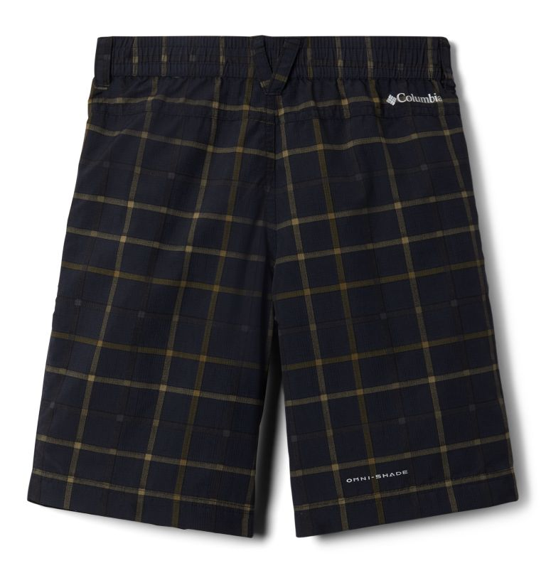 Silver Ridge™ Novelty Short | 011 | L Boys' Silver Ridge™ Novelty Shorts, Black Plaid, back