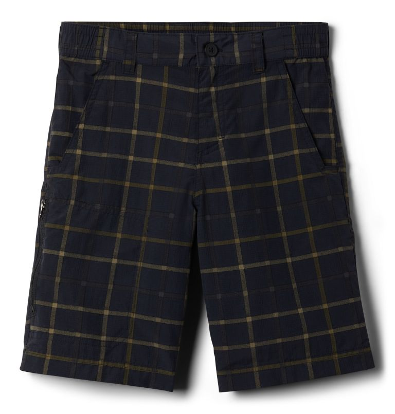 Silver Ridge™ Novelty Short | 011 | L Boys' Silver Ridge™ Novelty Shorts, Black Plaid, front