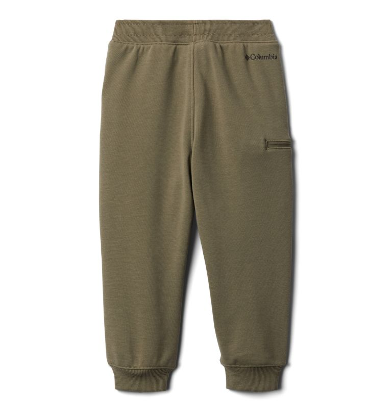 Columbia™ Branded French Terry Jogger | 397 | M Boys' Columbia™ Branded French Terry Joggers, Stone Green, back