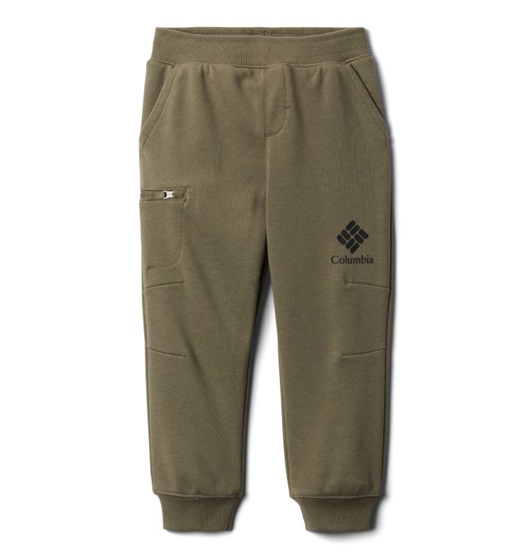 Columbia™ Branded French Terry Jogger | 397 | M Boys' Columbia™ Branded French Terry Joggers, Stone Green, front