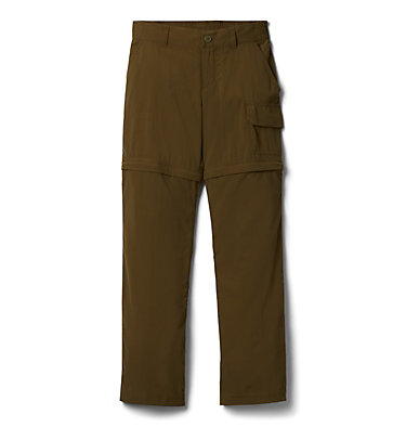 Girls' Silver Ridge™ IV Convertible Trousers Silver Ridge™ IV Convertible Pant | 466 | L, New Olive, front