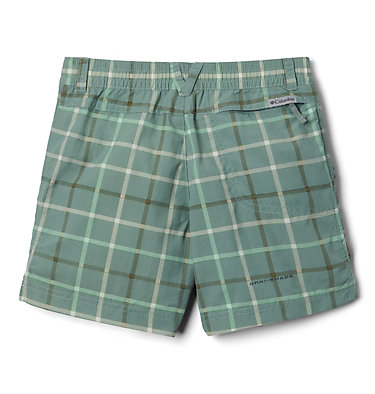 Girls' Silver Ridge™ Novelty Shorts Silver Ridge™Novelty Short | 468 | XXS, Light Lichen Checker Plaid, back