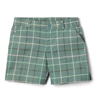 Girls' Silver Ridge™ Novelty Shorts Silver Ridge™Novelty Short | 468 | XXS, Light Lichen Checker Plaid, front