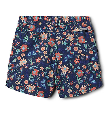Girls' Silver Ridge™ Novelty Shorts Silver Ridge™Novelty Short | 468 | XXS, Nocturnal Wildflowers and Bugs, back