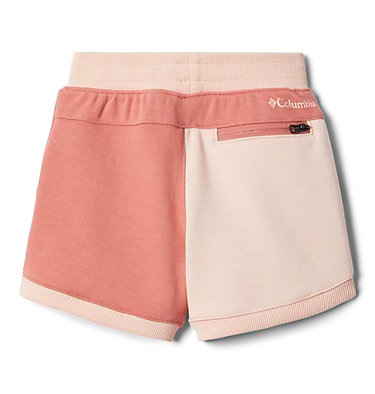 Girls' Toddler Columbia™ Branded French Terry Shorts Columbia™ Branded French Terry Short | 031 | 2T, Dark Coral, Peach Cloud, back
