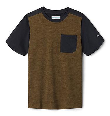 Boys' Tech Trek™ Short Sleeve Shirt Tech Trek™ Short Sleeve Tee | 327 | L, New Olive Heather, Black, front