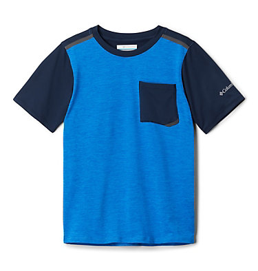 T-shirt Tech Trek™ Garçon Tech Trek™ Short Sleeve Tee | 023 | L, Azure Blue Heather, Collegiate Navy, front