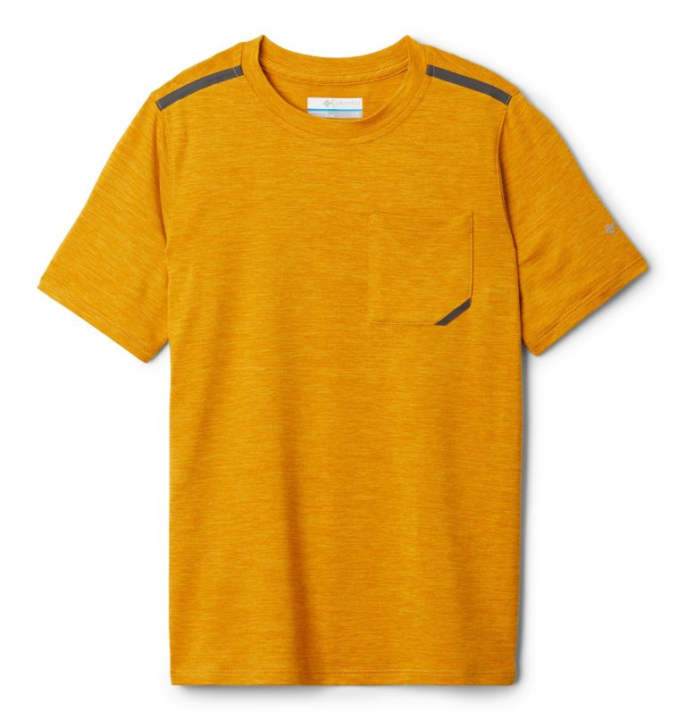 Tech Trek™ Short Sleeve Tee | 790 | XL Boys' Tech Trek™ T-Shirt, Bright Gold Heather, front