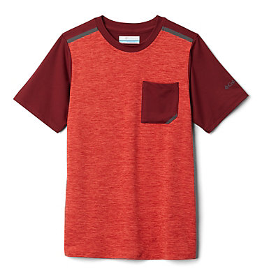 T-shirt à manches courtes Tech Trek™ pour garçon Tech Trek™ Short Sleeve Tee | 378 | L, Wildfire Heather, Red Jasper, front