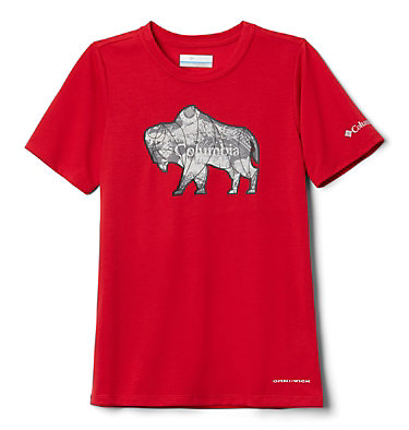 Boys' Ranco Lake™ Short Sleeve Tee Ranco Lake™ Short Sleeve Tee | 790 | L, Mountain Red Iconic Roamer, front
