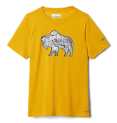 Boys' Ranco Lake™ Short Sleeve Tee Ranco Lake™ Short Sleeve Tee | 790 | L, Bright Gold Iconic Roamer, back