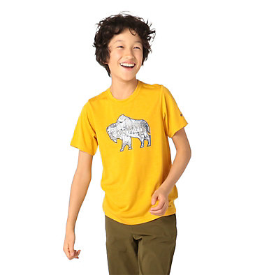 Boys' Ranco Lake™ Short Sleeve Tee Ranco Lake™ Short Sleeve Tee | 790 | L, Bright Gold Iconic Roamer, front
