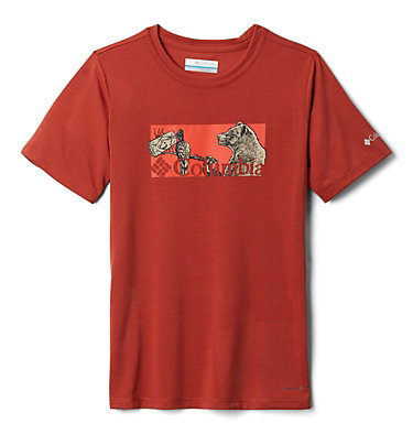T-shirt Ranco Lake™ Garçon Ranco Lake™ Short Sleeve Tee | 464 | M, Carnelian Red Nature Portrait, front