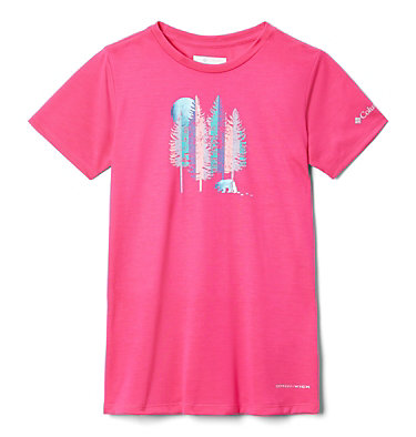 T-shirt Ranco Lake™ da bambina Ranco Lake™ Short Sleeve Tee | 466 | L, Cactus Pink Grizzly Grounds, front