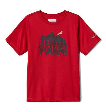 Boys' Bellator Basin™ T-Shirt Bellator Basin™ Short Sleeve Tee | 362 | L, Mountain Red Forget The Box, front