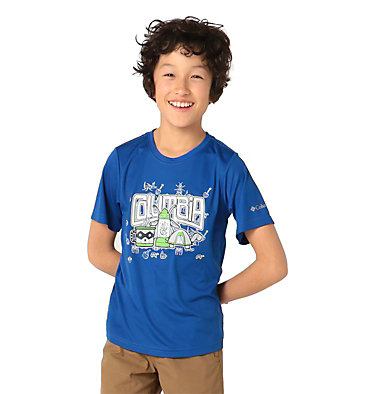 Boys' Little Trek™ T-Shirt Little Trek™ Short Sleeve Tee | 464 | XL, Azul Inner Glow, front