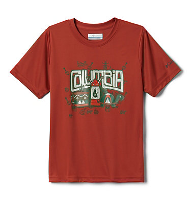 Boys' Little Trek™ T-Shirt Little Trek™ Short Sleeve Tee | 464 | XL, Carnelian Red Inner Glow, front