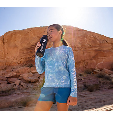Kids' Solar Chill™ Printed Long Sleeve Shirt Solar Chill™ Printed Long Sleeve | 847 | L, Static Blue, a1