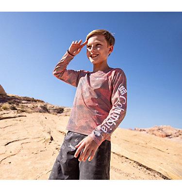 Kids' Solar Chill™ Printed Long Sleeve Shirt Solar Chill™ Printed Long Sleeve   847   L, Wildfire, a1