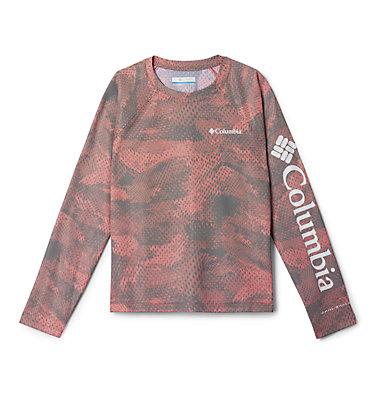 Kids' Solar Chill™ Printed Long Sleeve Shirt Solar Chill™ Printed Long Sleeve   847   L, Wildfire, front