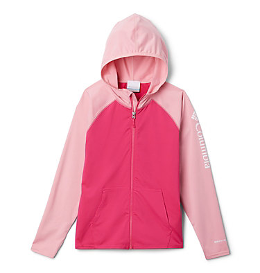 Kids' Sandy Shores™ Full-Zip Hoodie Sandy Shores™ Full Zip Hoodie   440   L, Cactus Pink, Pink Orchid, front