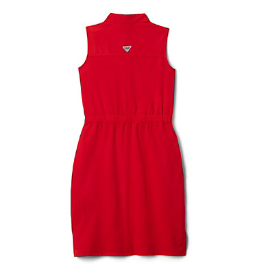Girls' PFG Tamiami™ Sleeveless Dress Tamiami™ Sleeveless Dress | 464 | M, Red Lily, back
