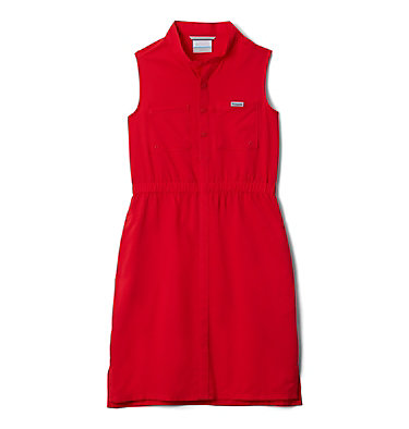 Girls' PFG Tamiami™ Sleeveless Dress Tamiami™ Sleeveless Dress | 464 | M, Red Lily, front