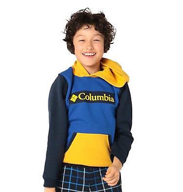 Boys' Columbia Park™ Hoodie Columbia Park™Hoodie | 010 | XS, Azul, Collegiate Navy, Bright Gold, front