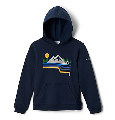 Boys' Columbia Park™ Hoodie Columbia Park™Hoodie   010   XS, Collegiate Navy Linear Hike, front