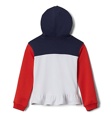 Girls' Columbia Park™ Hoodie Columbia Park™Hoodie   539   L, White, Bright Poppy, Nocturnal, back