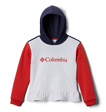 Girls' Columbia Park™ Hoodie Columbia Park™Hoodie   539   L, White, Bright Poppy, Nocturnal, front