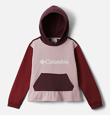 Girls' Columbia Park™ Hoodie Columbia Park™Hoodie | 618 | XXS, Mineral Pink, Marsala Red, Malbec, front