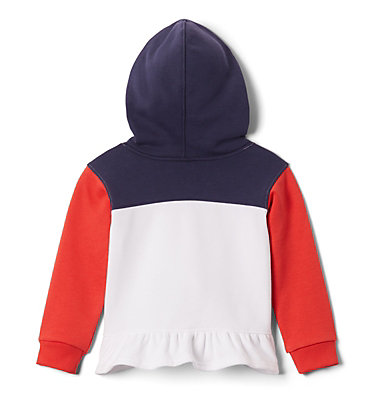 Girls' Toddler Columbia Park™ Hoodie Columbia Park™Hoodie   618   2T, White, Bright Poppy, Nocturnal, back