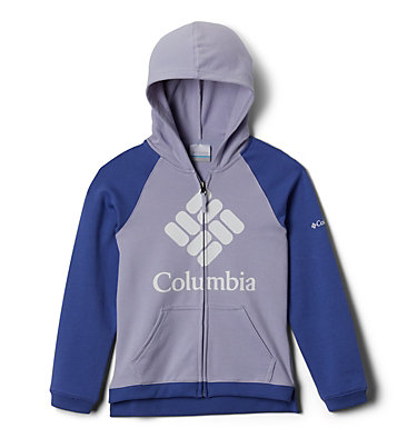 Girls' Columbia™ French Terry Full Zip Hoodie Columbia™ BrandedFrench Terry Full Zip  | 639 | L, Twilight, African Violet, front