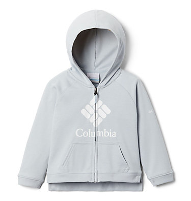 Girls' Toddler Columbia™ Branded French Terry Full Zip Hoodie Columbia™ BrandedFrench Terry Full Zip    639   2T, Cirrus Grey Heather, front