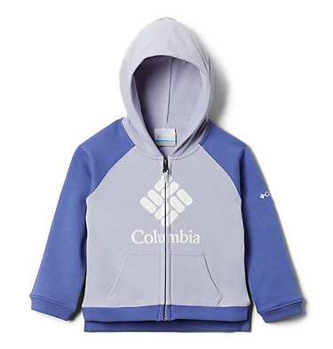 Girls' Toddler Columbia™ Branded French Terry Full Zip Hoodie Columbia™ BrandedFrench Terry Full Zip    639   2T, Twilight, African Violet, front