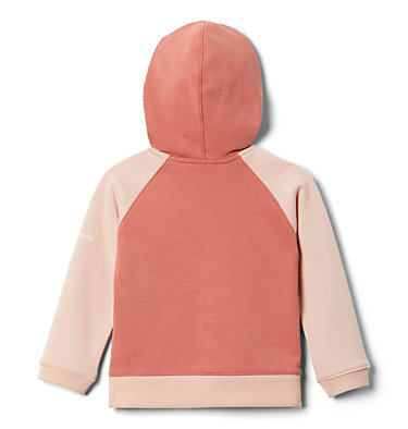 Girls' Toddler Columbia™ Branded French Terry Full Zip Hoodie Columbia™ BrandedFrench Terry Full Zip    639   2T, Dark Coral, Peach Cloud, back