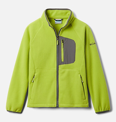 Youth Fast Trek™ III Fleece Full Zip Fast Trek™ III Fleece Full Zip | 386 | XS, Bright Chartreuse, City Grey, front